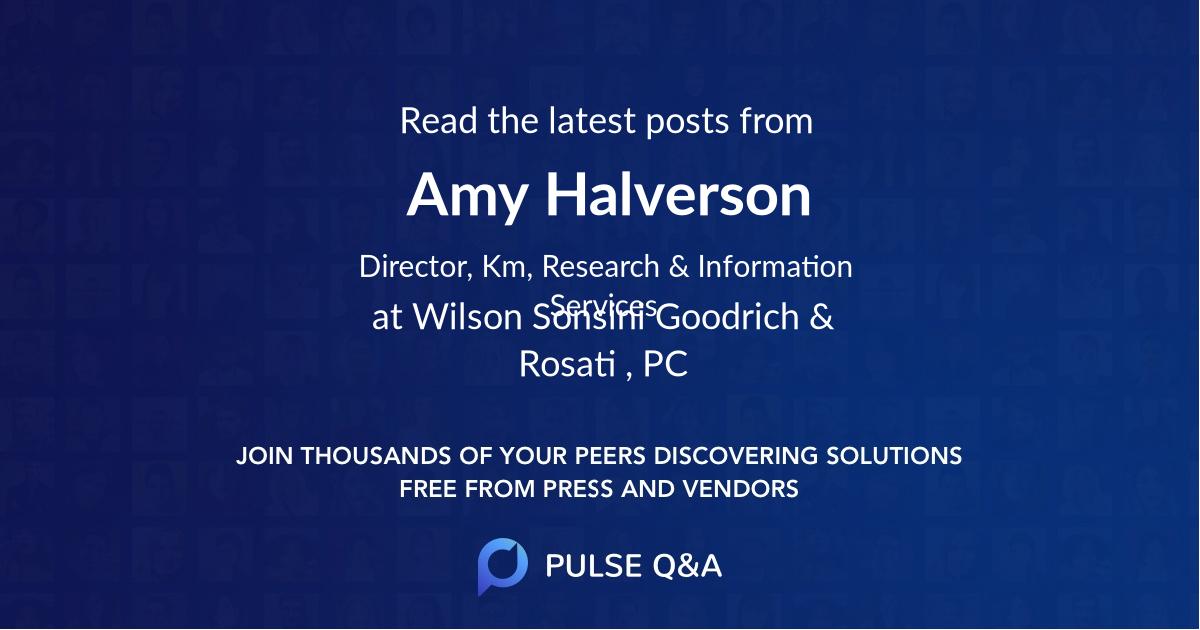 Amy Halverson