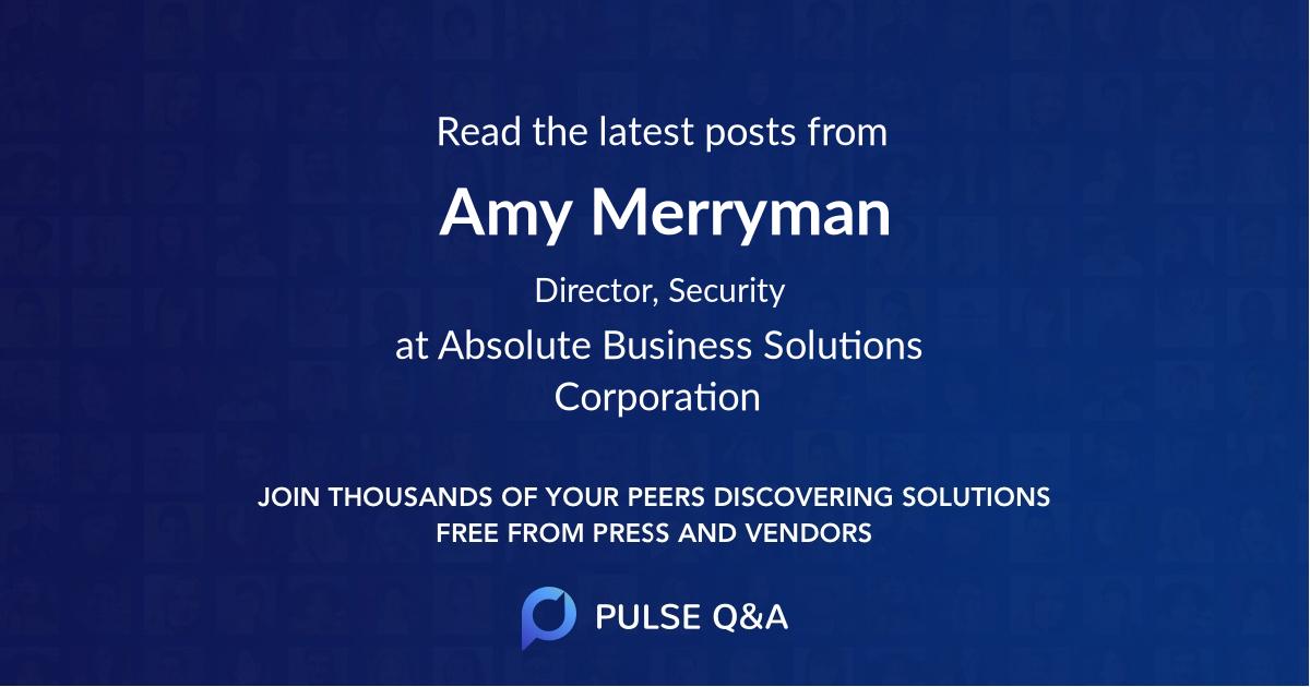 Amy Merryman