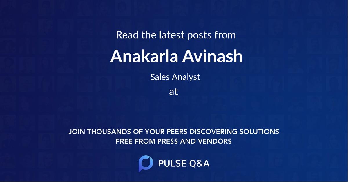 Anakarla Avinash