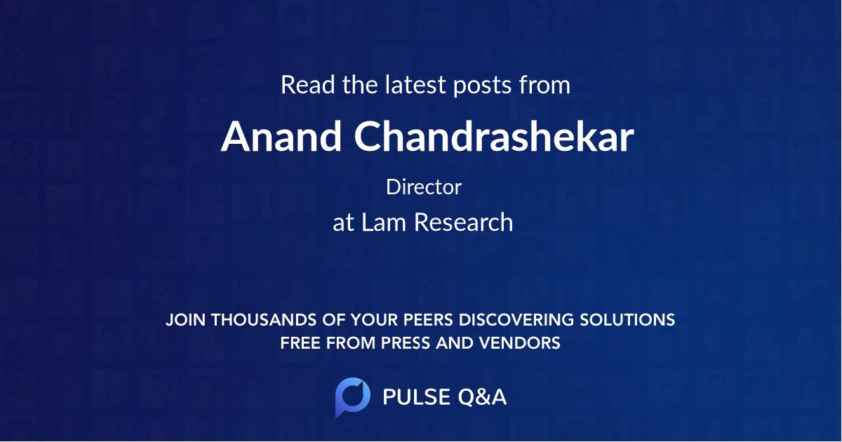 Anand Chandrashekar