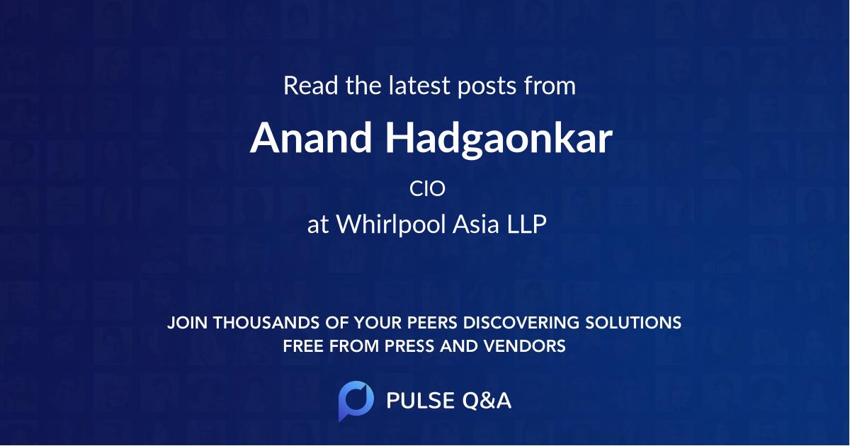 Anand Hadgaonkar