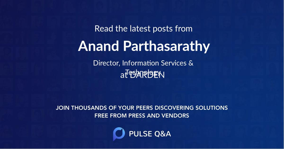 Anand Parthasarathy
