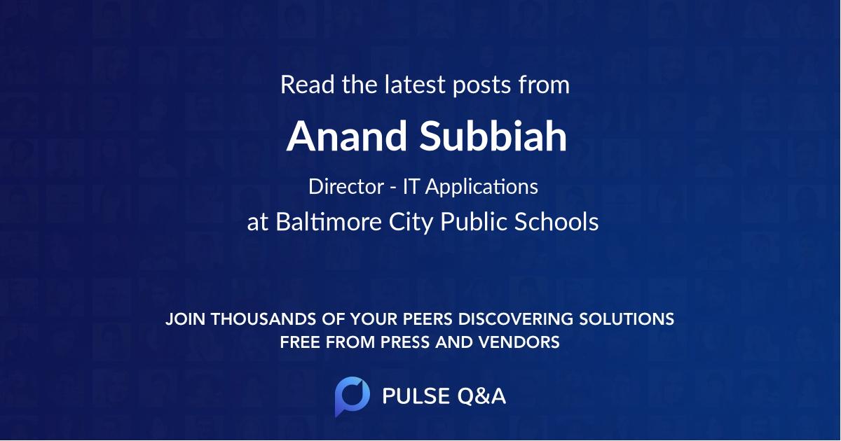 Anand Subbiah