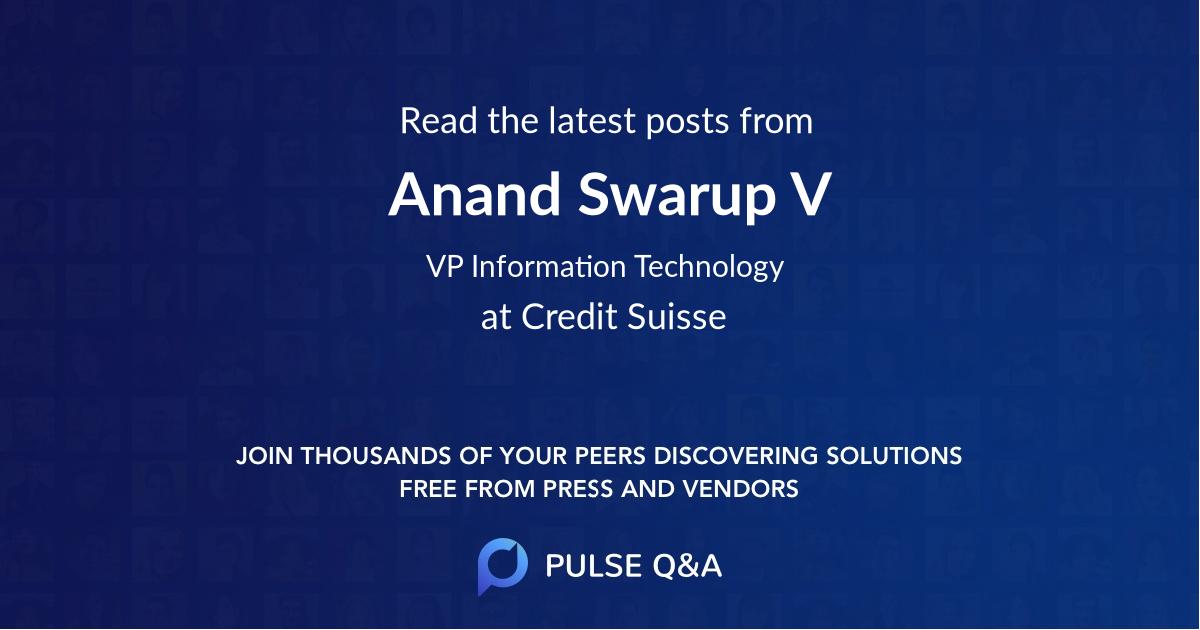 Anand Swarup V