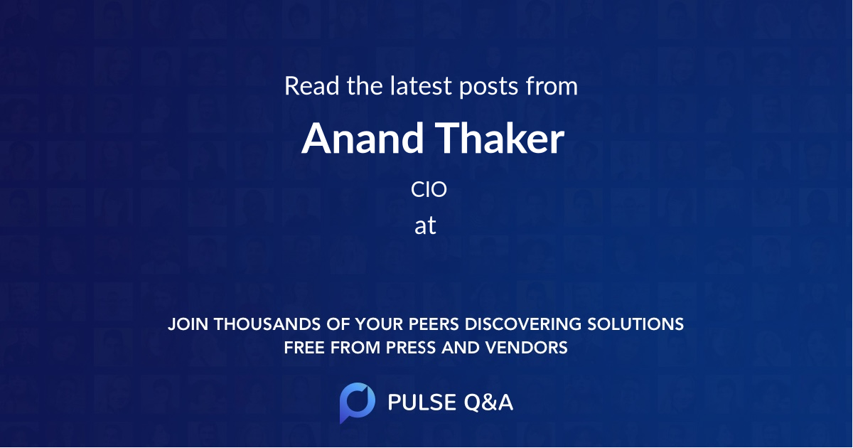 Anand Thaker