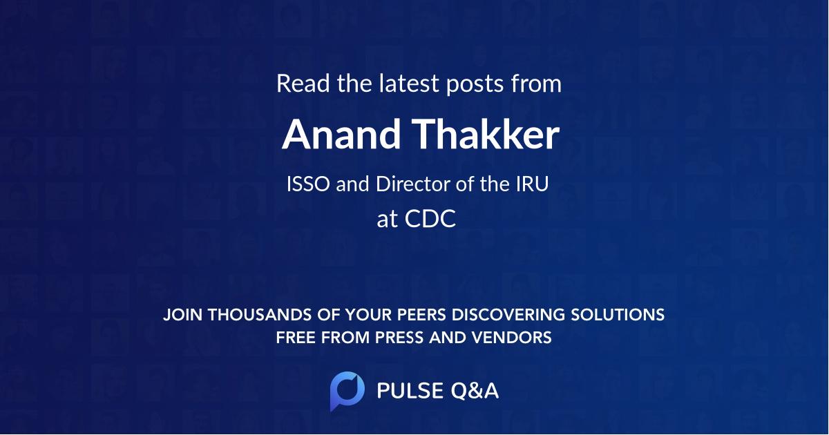 Anand Thakker