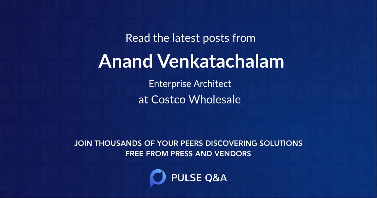 Anand Venkatachalam