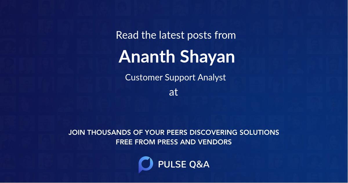 Ananth Shayan