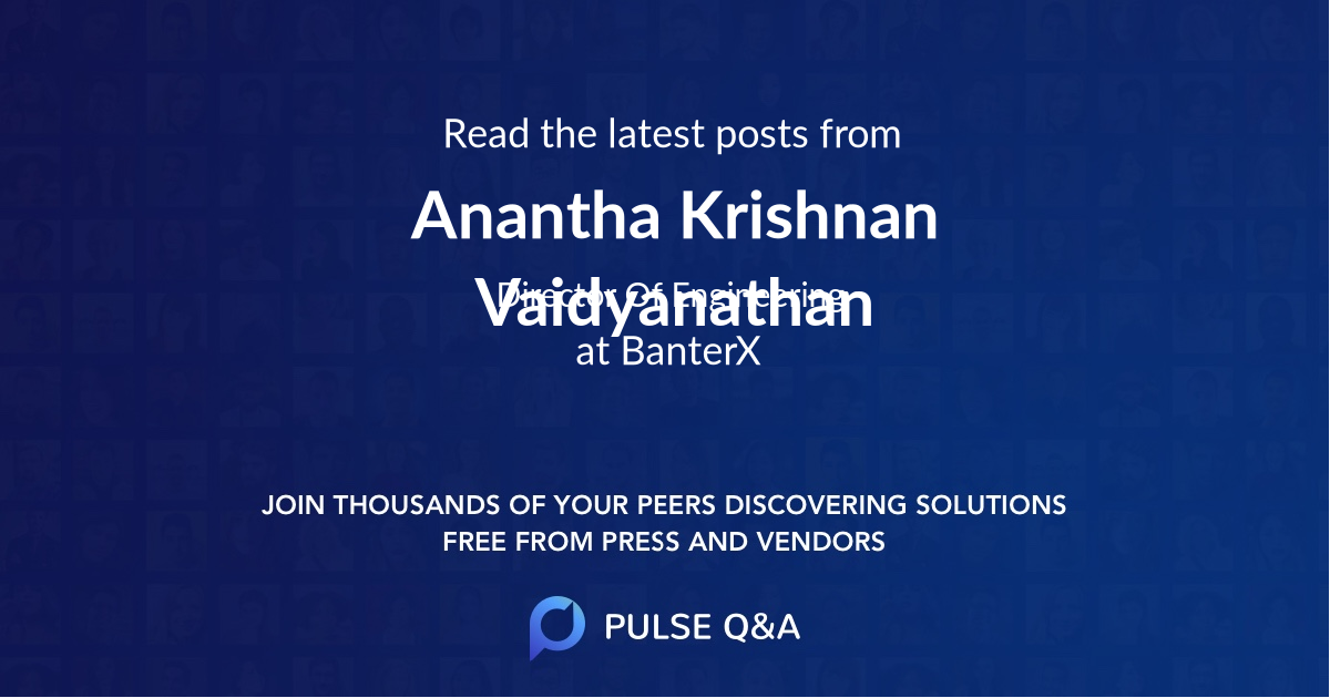Anantha Krishnan Vaidyanathan
