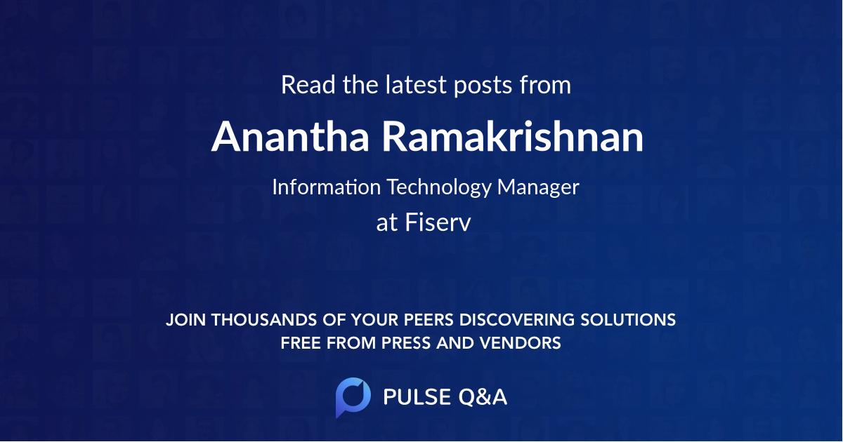 Anantha Ramakrishnan