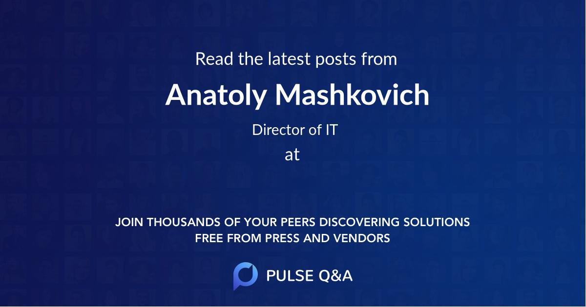 Anatoly Mashkovich