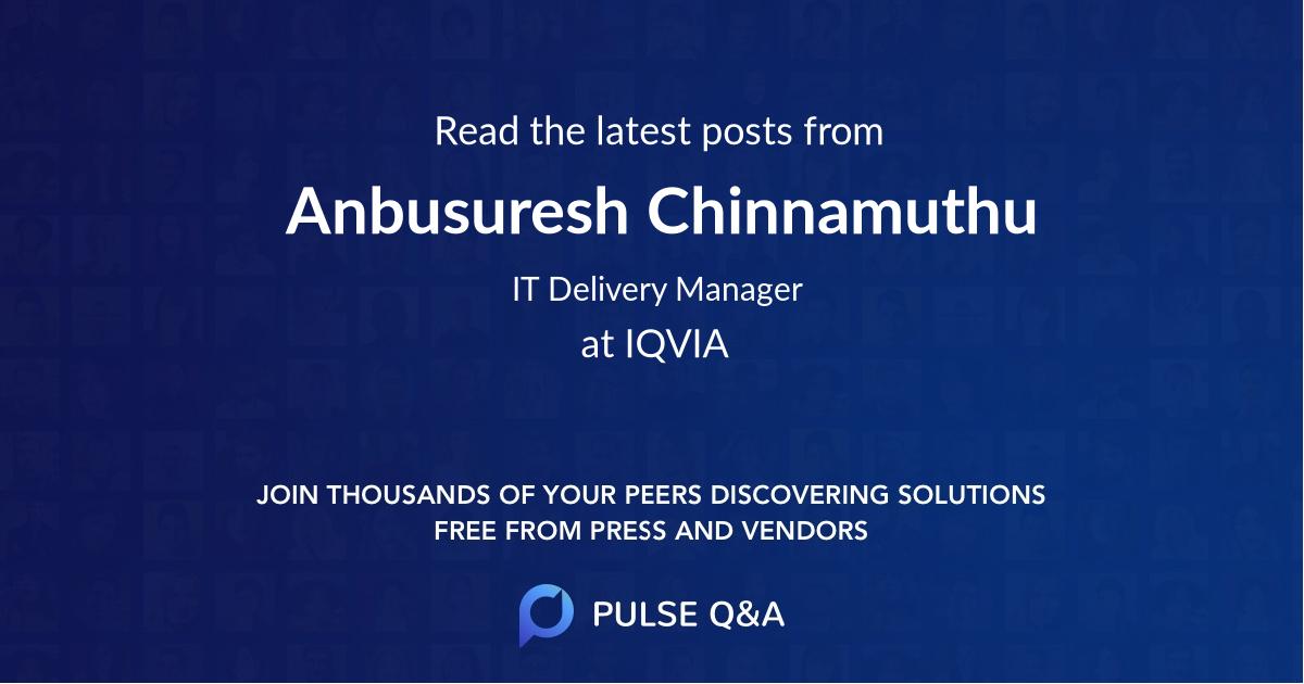 Anbusuresh Chinnamuthu