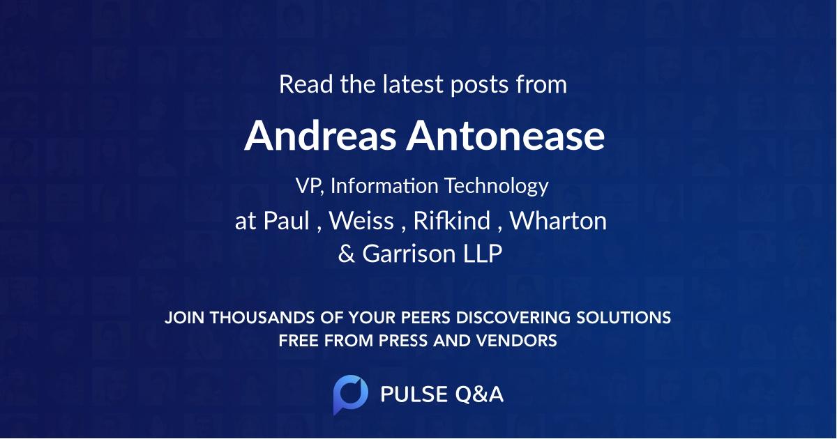 Andreas Antonease
