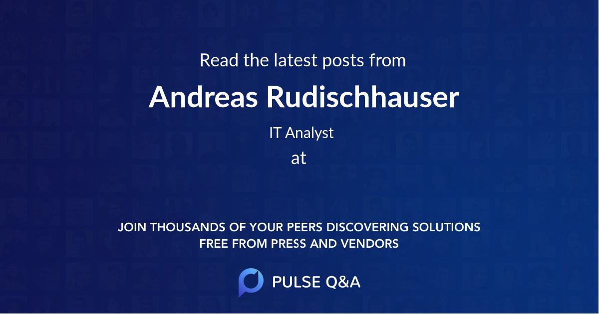 Andreas Rudischhauser