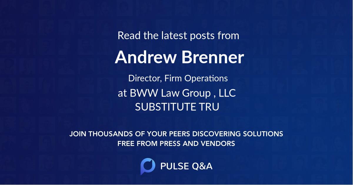 Andrew Brenner