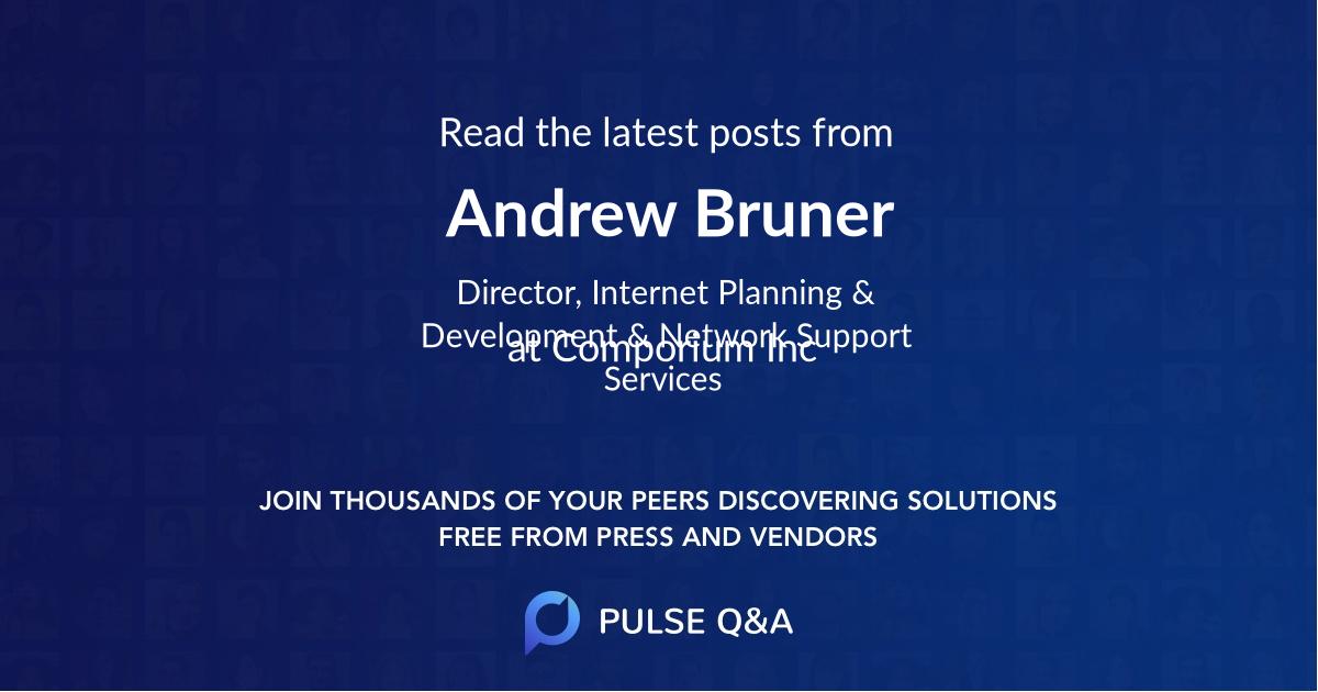 Andrew Bruner