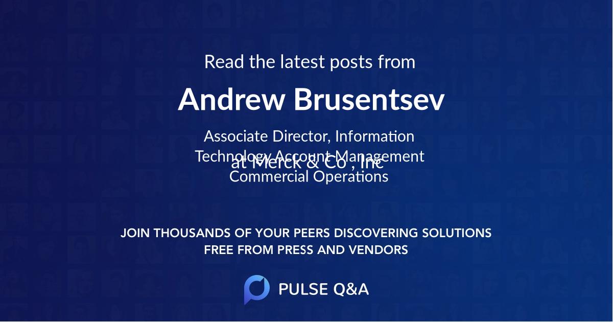 Andrew Brusentsev