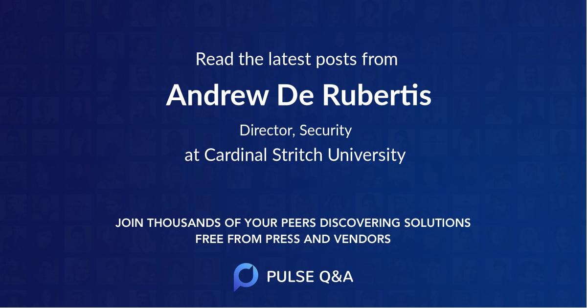Andrew De Rubertis