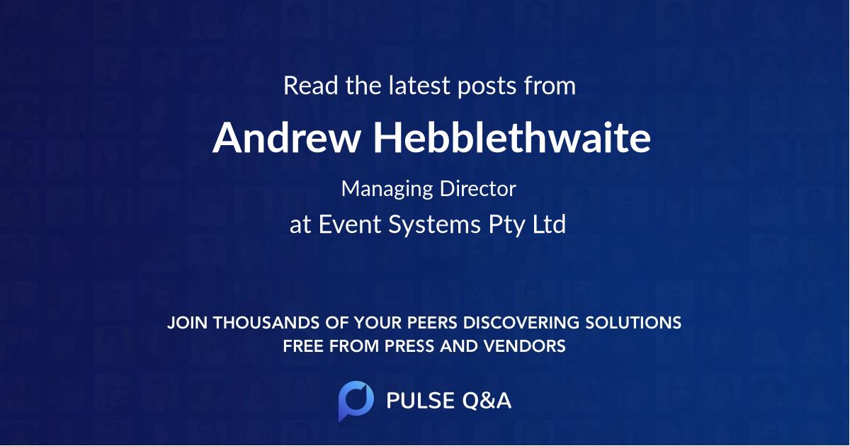 Andrew Hebblethwaite
