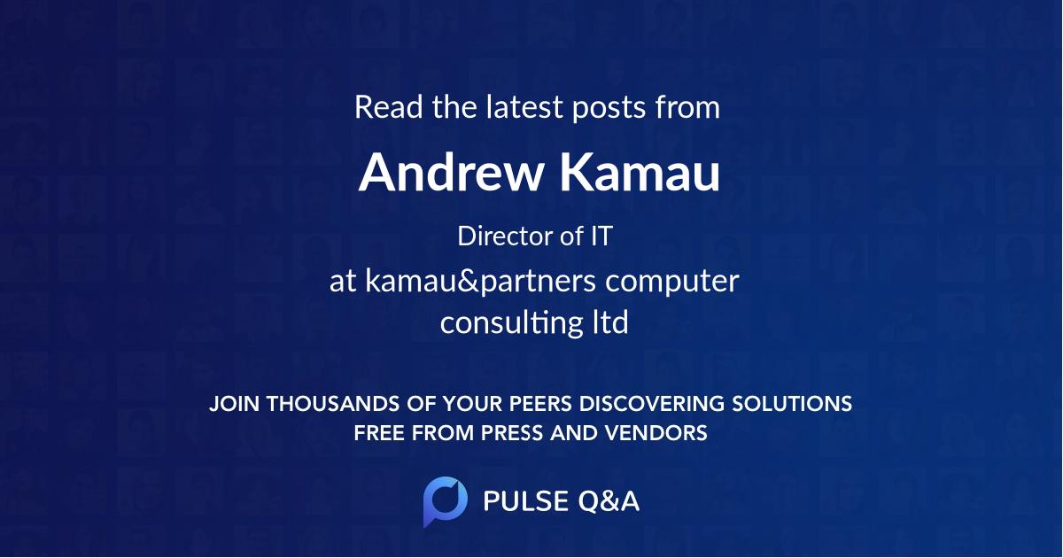 Andrew Kamau
