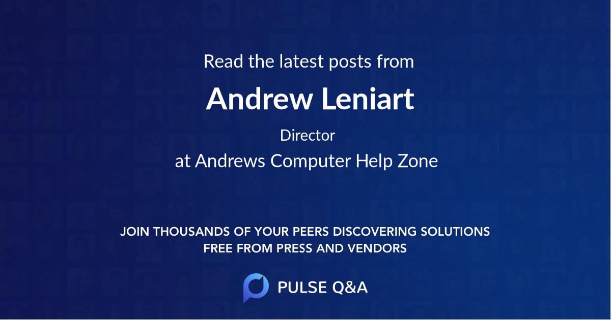 Andrew Leniart