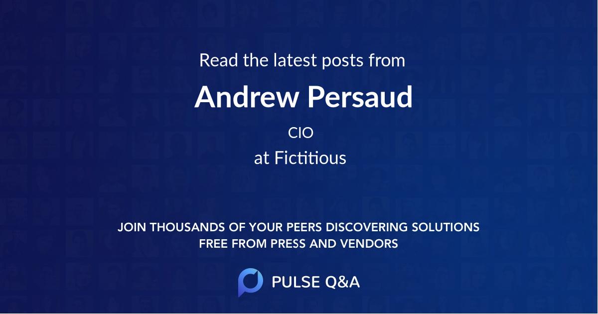 Andrew Persaud