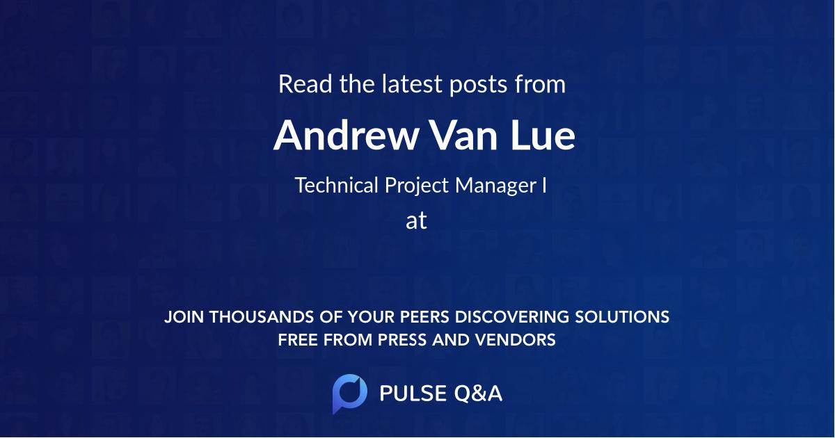 Andrew Van Lue