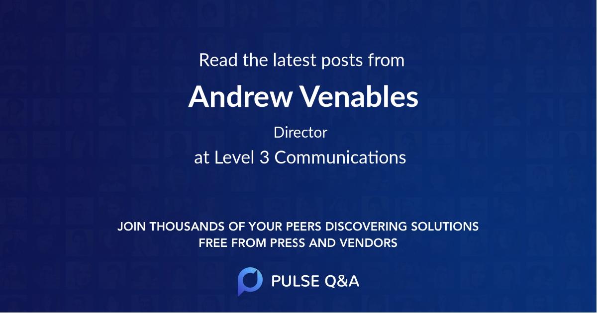 Andrew Venables