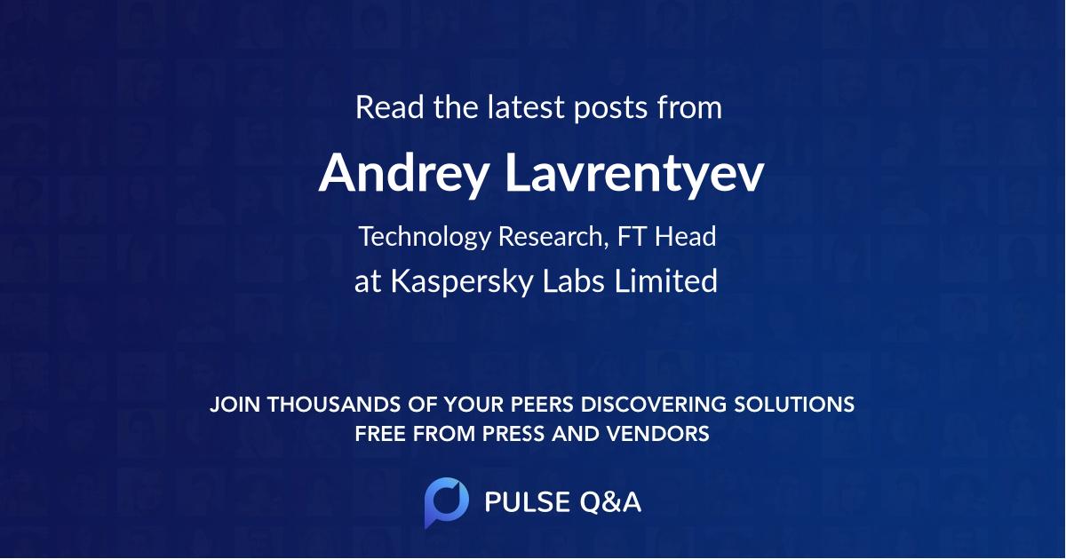 Andrey Lavrentyev