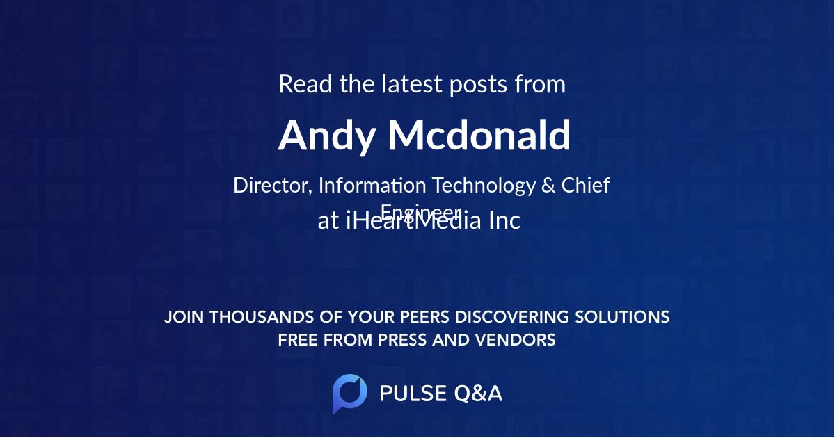 Andy Mcdonald