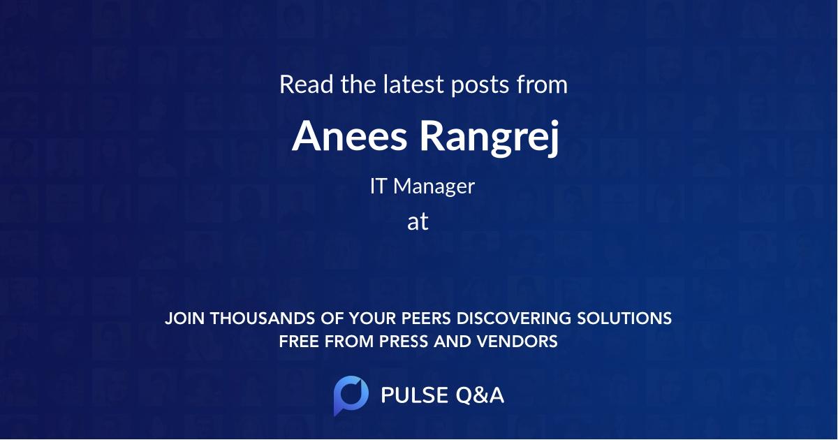 Anees Rangrej