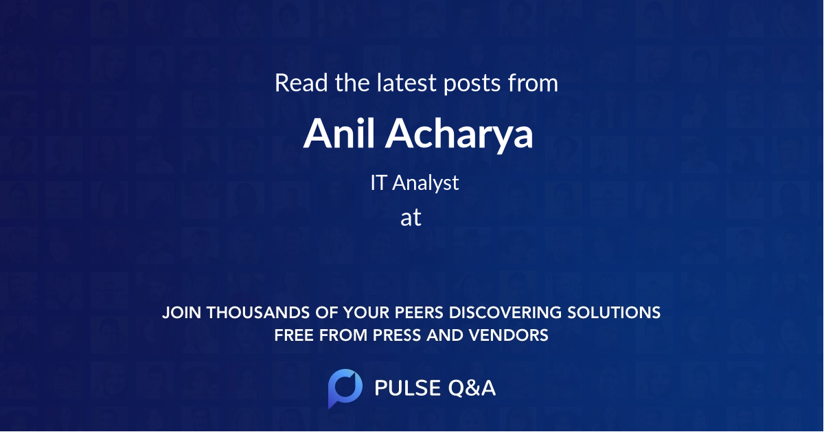 Anil Acharya