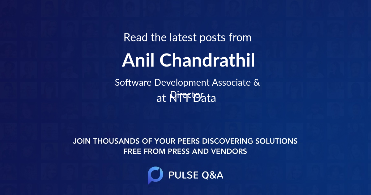 Anil Chandrathil