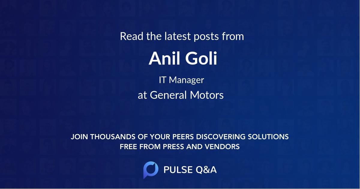 Anil Goli