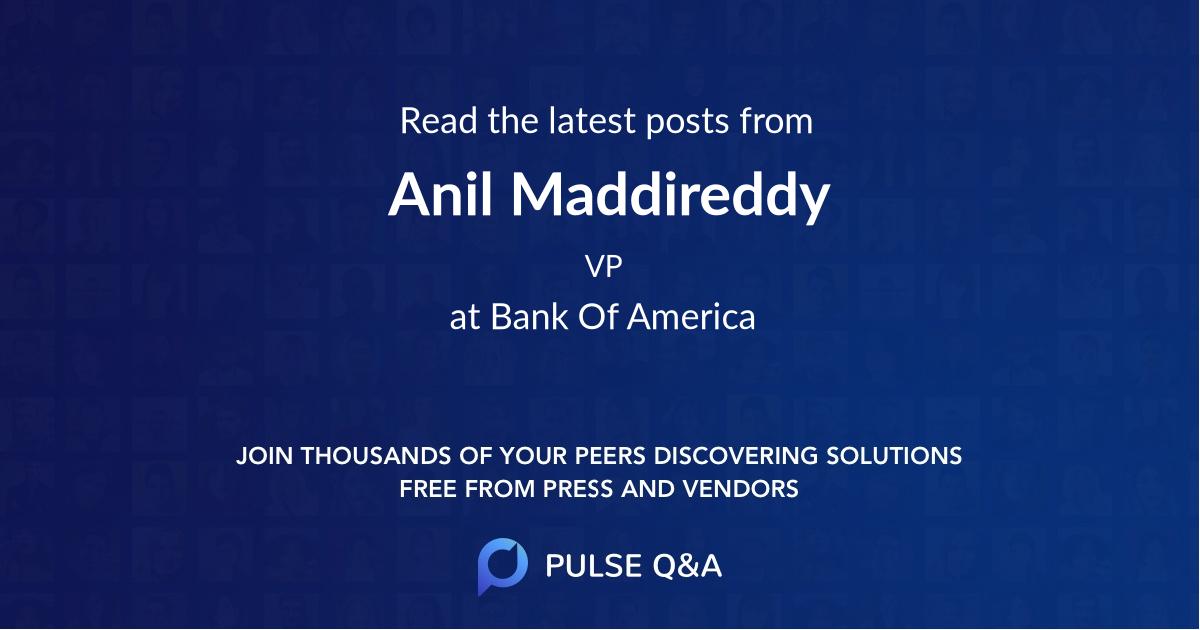 Anil Maddireddy