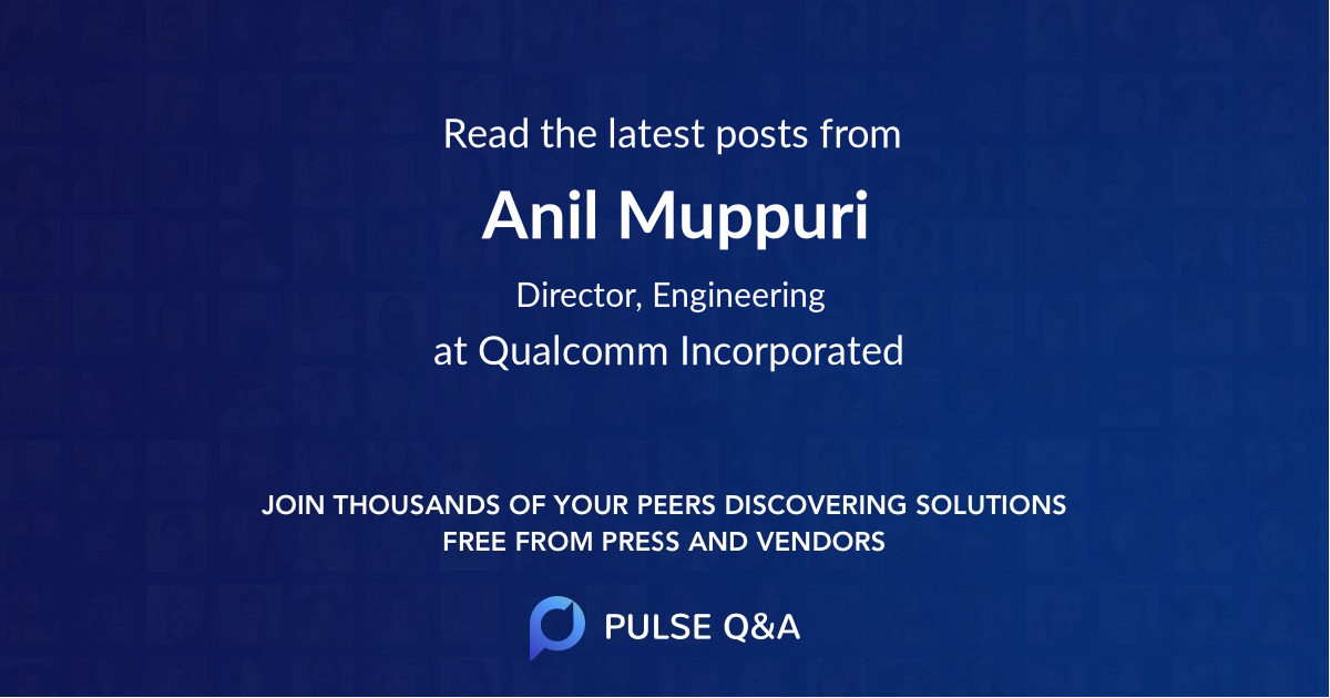 Anil Muppuri
