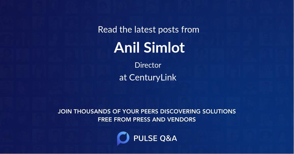 Anil Simlot