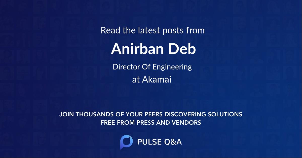 Anirban Deb