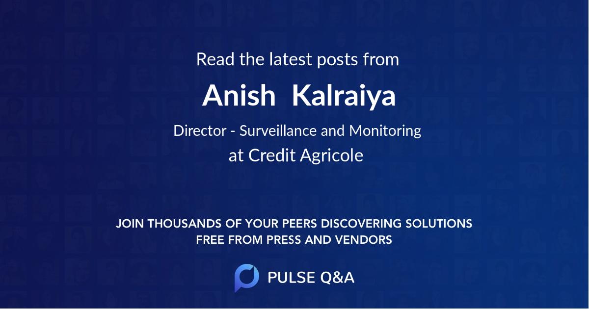 Anish  Kalraiya
