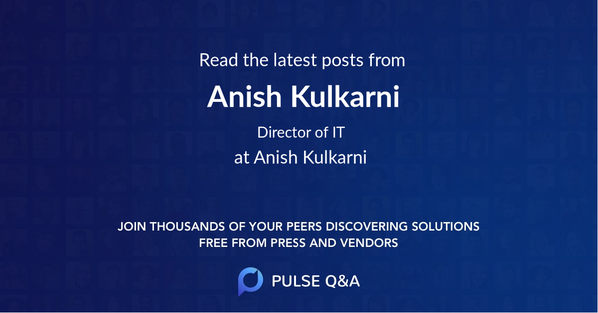 Anish Kulkarni