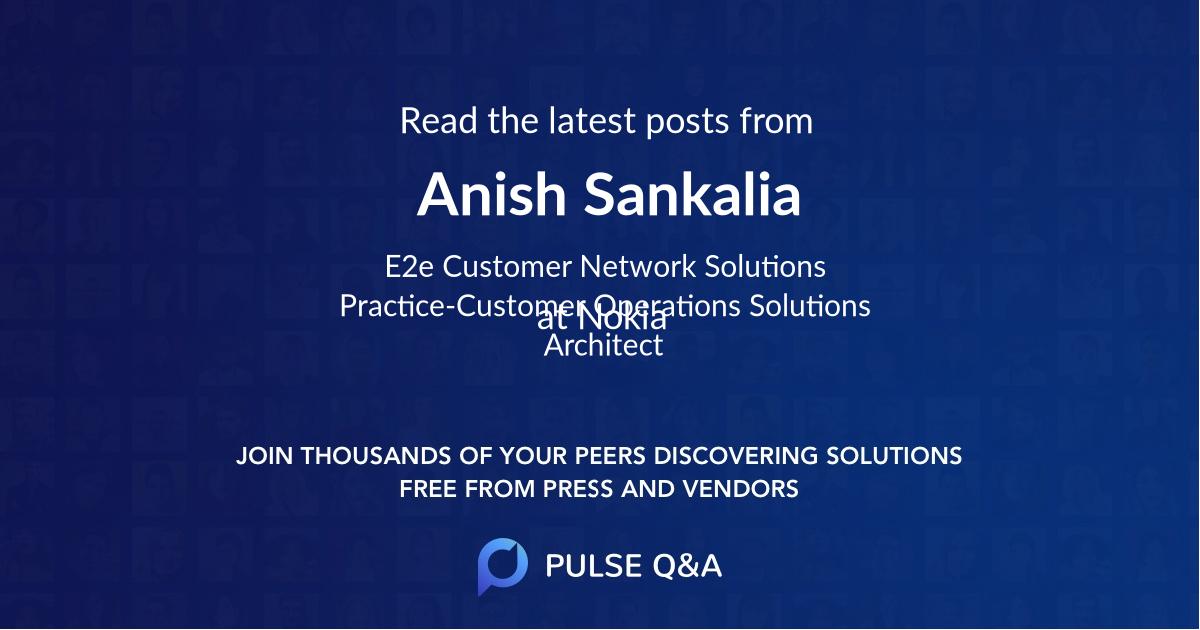 Anish Sankalia