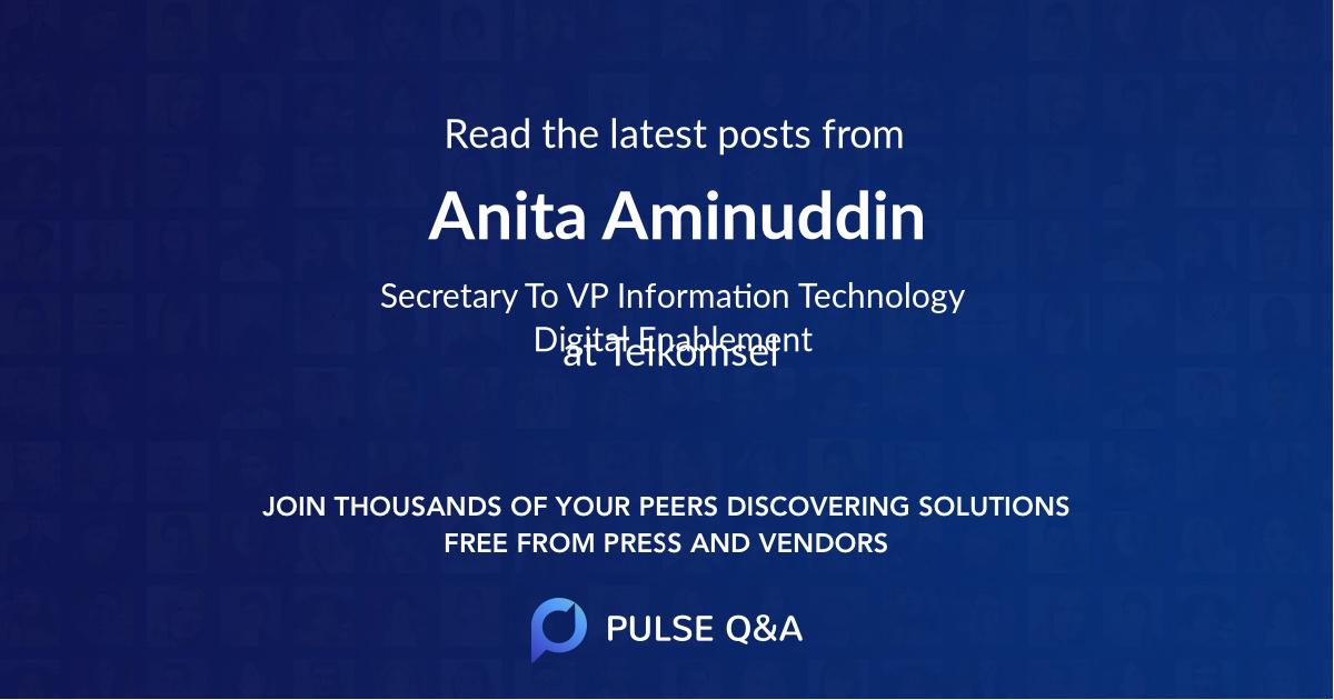 Anita Aminuddin