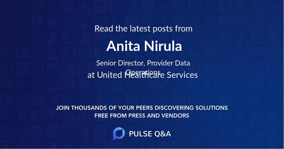 Anita Nirula