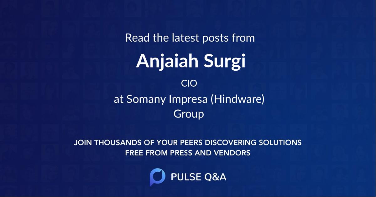 Anjaiah Surgi