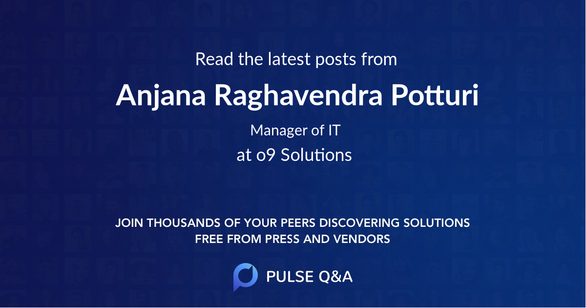 Anjana Raghavendra Potturi