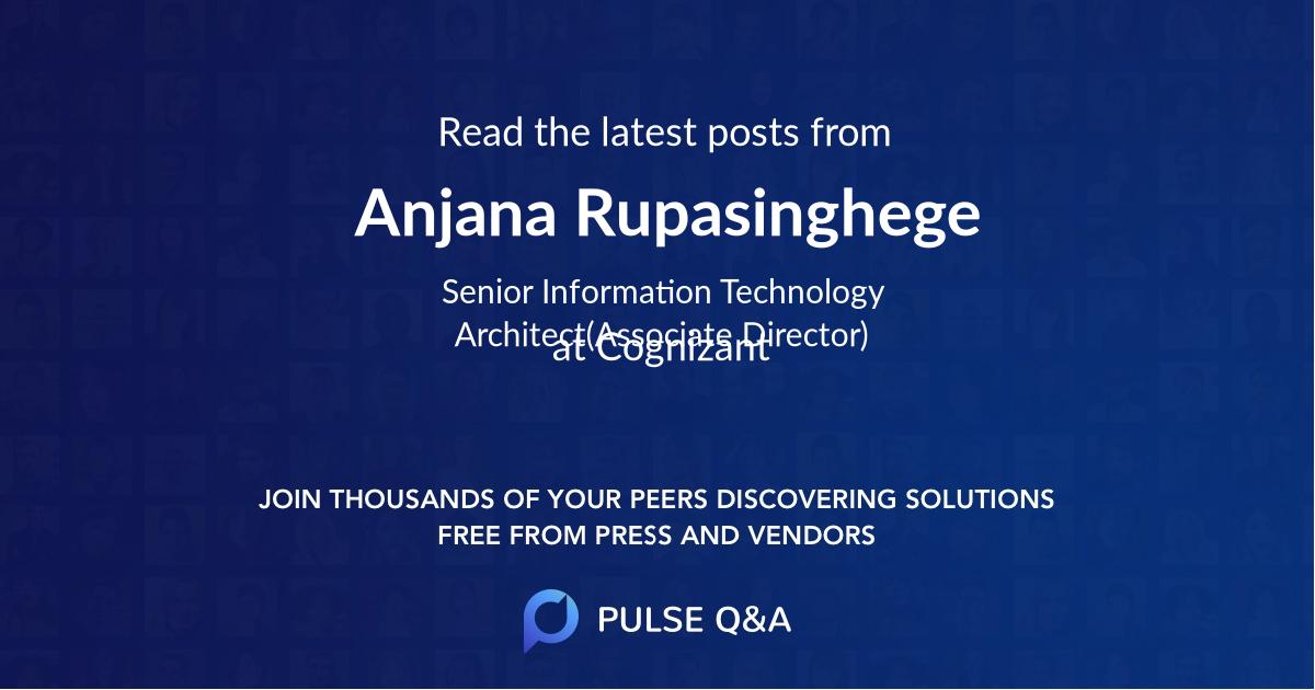 Anjana Rupasinghege