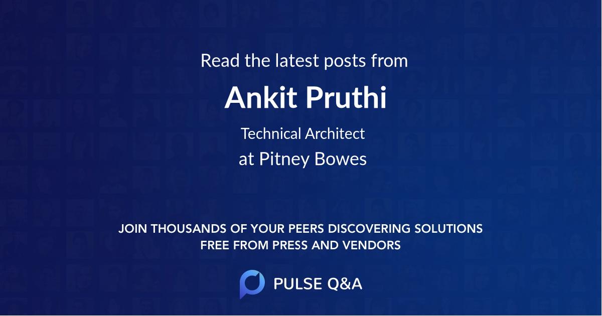 Ankit Pruthi