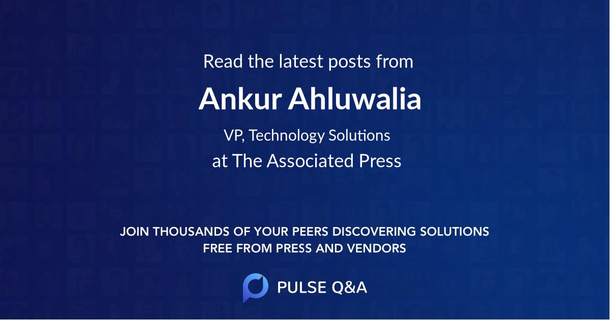 Ankur Ahluwalia