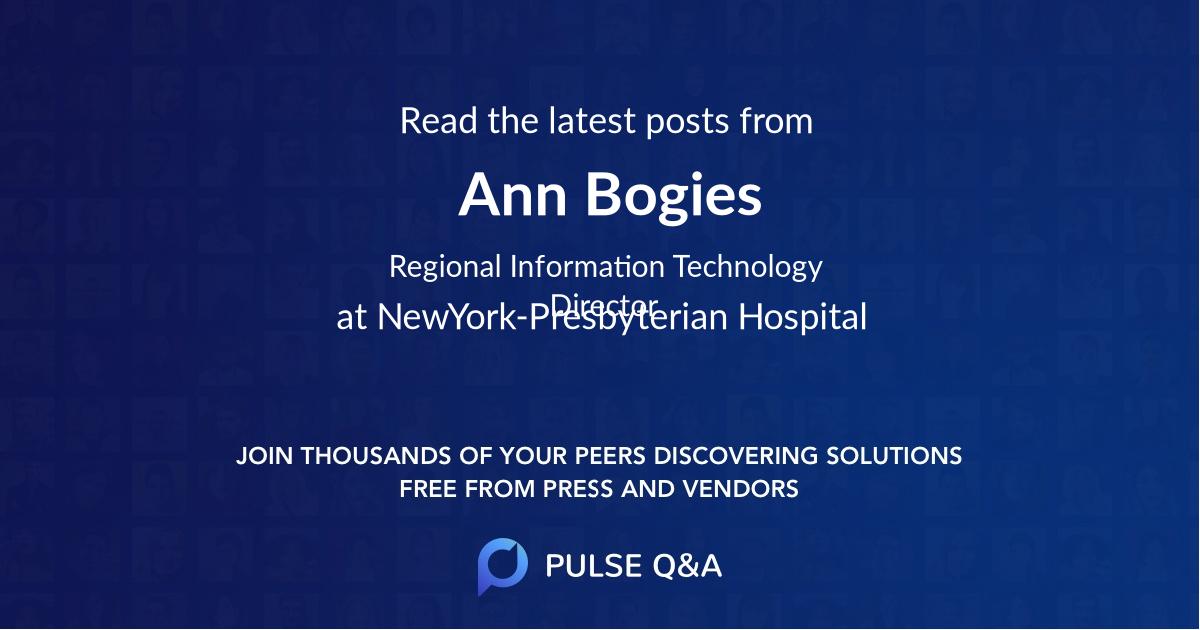 Ann Bogies