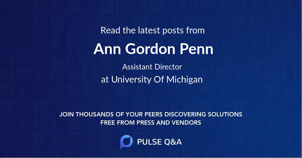 Ann Gordon Penn